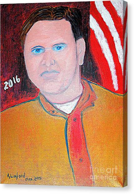 Al Gore Canvas Print - Jeb Bush 1 by Richard W Linford