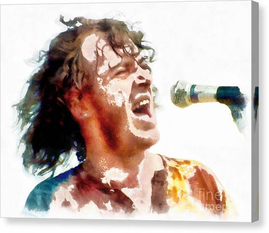 Young Joe Cocker Canvas Print