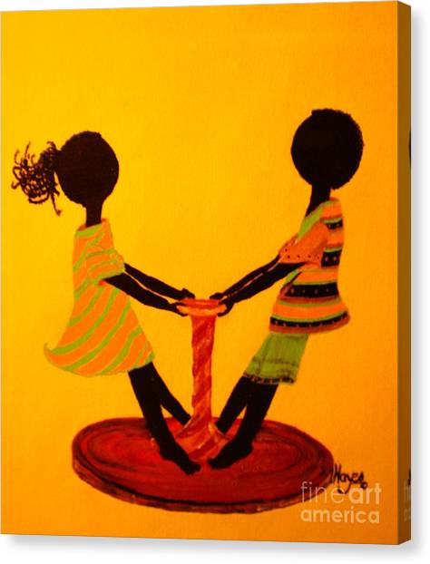 Young Love-twirling Canvas Print
