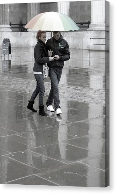 Young Love Under The Weather Canvas Print by Jez C Self