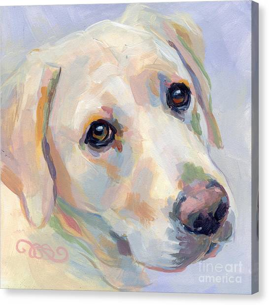 Pet Portraits Canvas Print - Young Man by Kimberly Santini