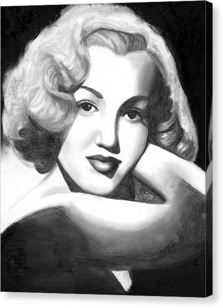 Young Marilyn Canvas Print by Scarlett Royal