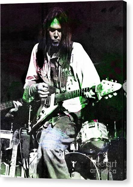 Neil Young Canvas Print - Young Neil by John Malone