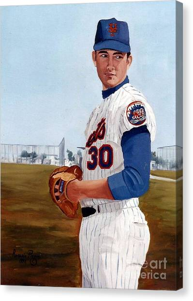 Young Nolan Ryan - With Mets Canvas Print
