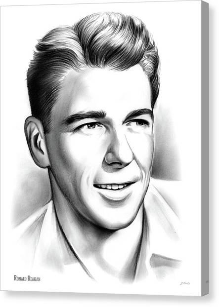 Ronald Reagan Canvas Print - Young Reagan by Greg Joens