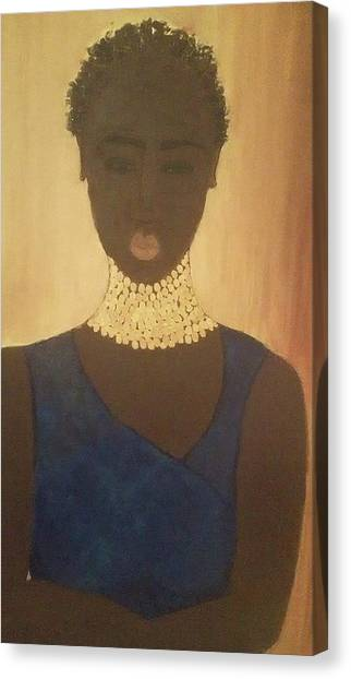 Young Sudanese Woman Canvas Print by Susan Madison