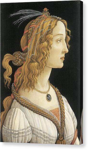 Botticelli Canvas Print - Young Woman In Mythical Guise by Sandro Botticelli
