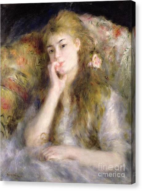Pierre-auguste Renoir Canvas Print - Young Woman Seated by Pierre Auguste Renoir