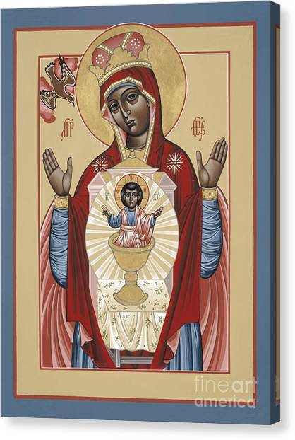 The Black Madonna Your Lap Has Become The Holy Table 060 Canvas Print