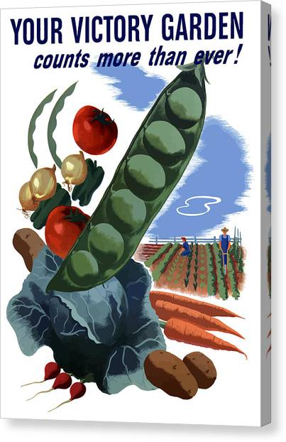 Farmers Canvas Print - Your Victory Garden Counts More Than Ever by War Is Hell Store