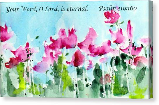 Bible Verses Canvas Print - Your Word O Lord by Anne Duke