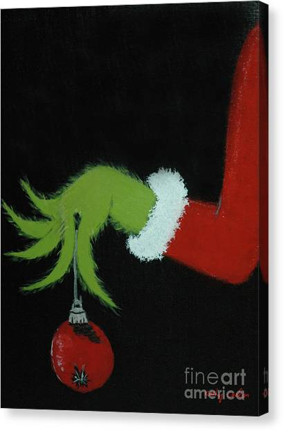 Grinch Canvas Print - You're A Mean One, Mr. Grinch by Kathy Carlson