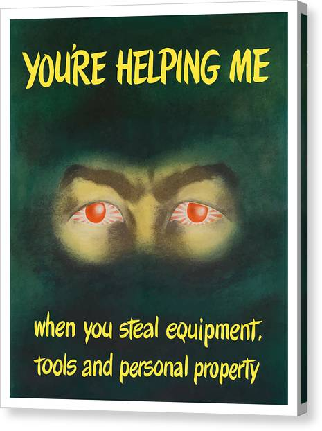 Japanese Canvas Print - You're Helping Me When You Steal Equipment by War Is Hell Store