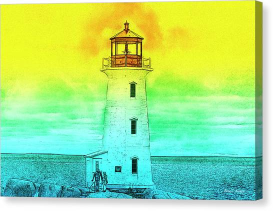 Peace Tower Canvas Print - You're My Beacon Peggy's Cove Lighthouse by Betsy Knapp