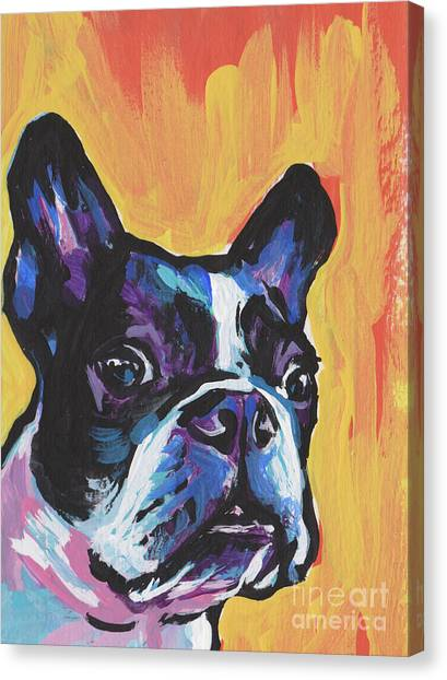 Boston Terriers Canvas Print - You're My Boss by Lea