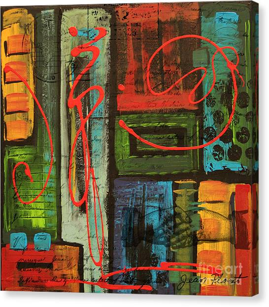 Acrylic On Canvas Print - Yours Truly 2 by Jean Plout