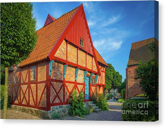 Europa Canvas Print - Ystad Old House by Inge Johnsson