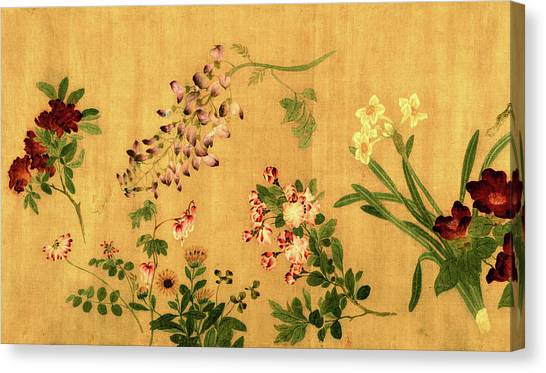 Yuan's Hundred Flowers Canvas Print