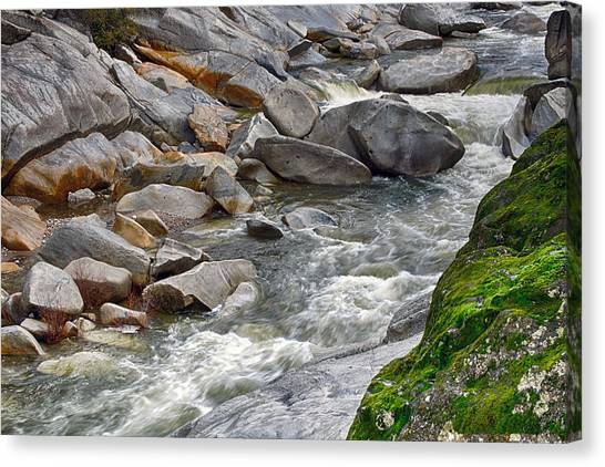 Canvas Print featuring the photograph Yuba Is Flowing by William Havle