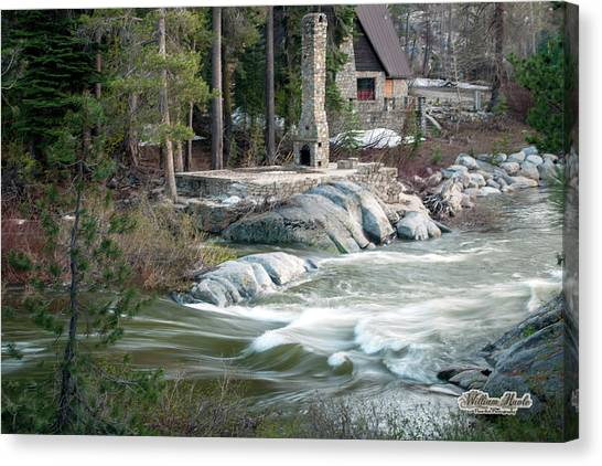 Canvas Print featuring the photograph Yuba River At Rainbow Lodge by William Havle