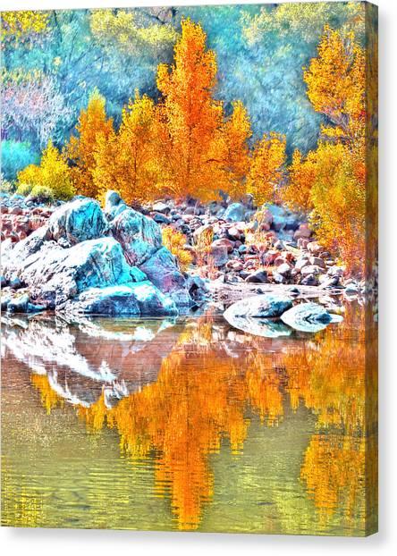 Yuba River Reflection Canvas Print
