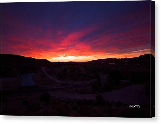 Yucca Sunrise Canvas Print