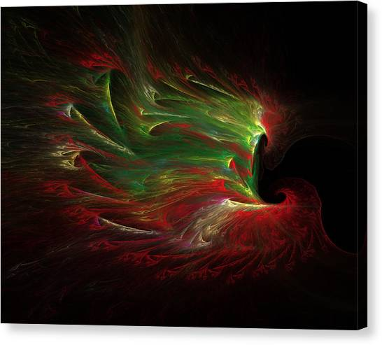 Yule-tide Phoenix Canvas Print