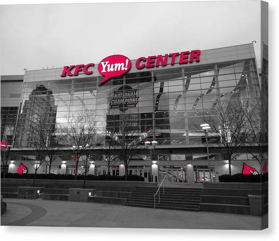 University Of Louisville Canvas Print - Yum Center by FineArtRoyal Joshua Mimbs