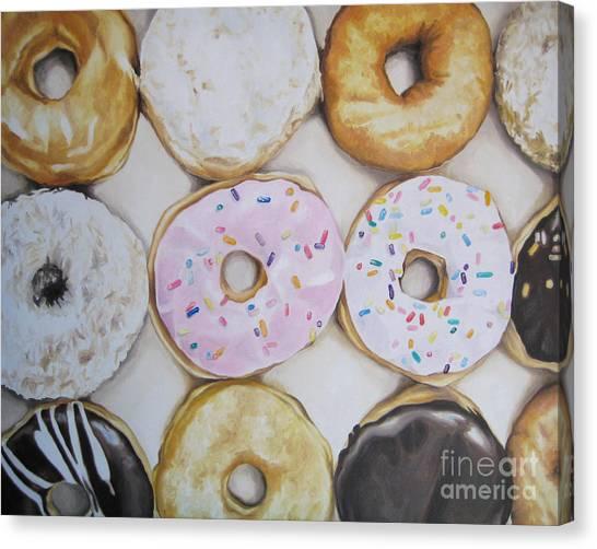 Yummy Donuts Canvas Print