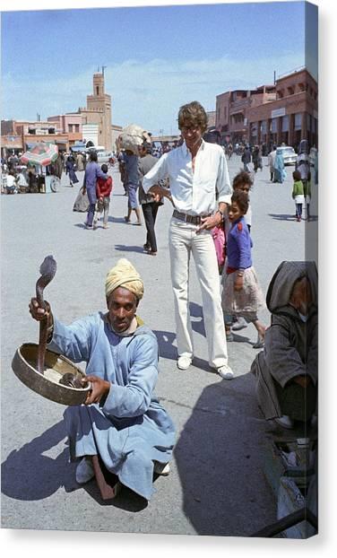 Yves Saint Laurent In Marrakech Canvas Print
