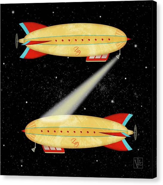 Z Is For Zeppelin Canvas Print
