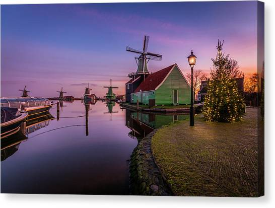 Zaanse Schans Holiday  Canvas Print