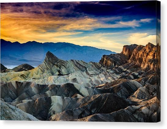 Zabriskie Point At Sundown Canvas Print