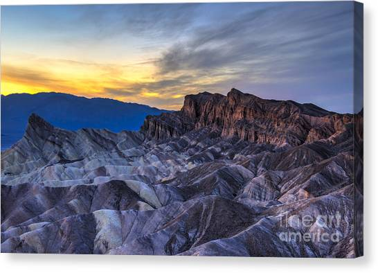 California Landscape Art Canvas Print - Zabriskie Point Sunset by Charles Dobbs