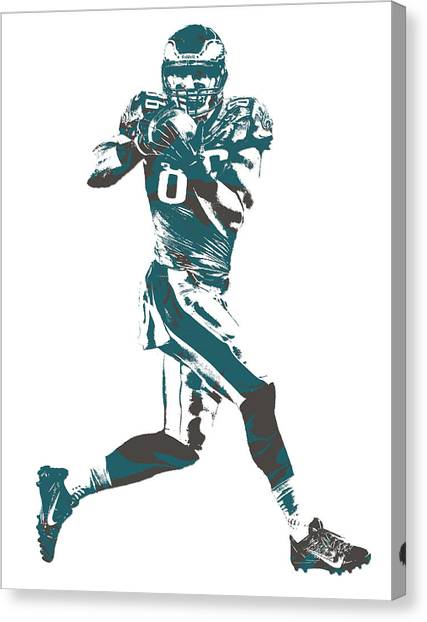 Philadelphia Eagles Canvas Print - Zach Ertz Philadelphia Eagles Pixel Art 1 by Joe Hamilton