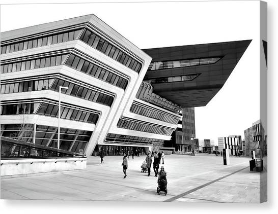 Zaha Hadid Library Center Wu Campus Vienna Canvas Print