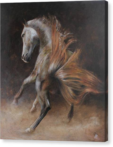 Arabian Desert Canvas Print - Zaida by Vali Irina Ciobanu