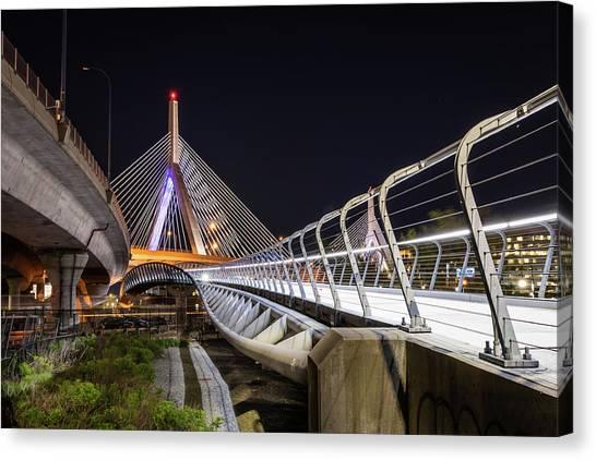 Zakim Bridge Walkway Canvas Print