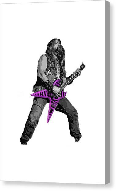 Zakk Guitarist Canvas Print by Andrea Mazzocchetti
