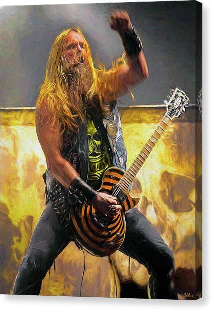 Jeff Hanneman Canvas Print - Zakk Wylde by Mal Bray