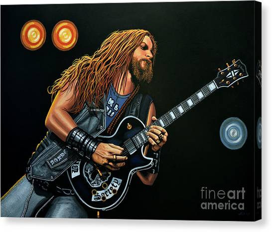 Realism Art Canvas Print - Zakk Wylde by Paul Meijering