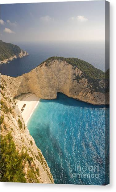 Canvas Print featuring the photograph Zakynthos Beach by Juergen Held