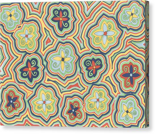 Zany Garden Canvas Print