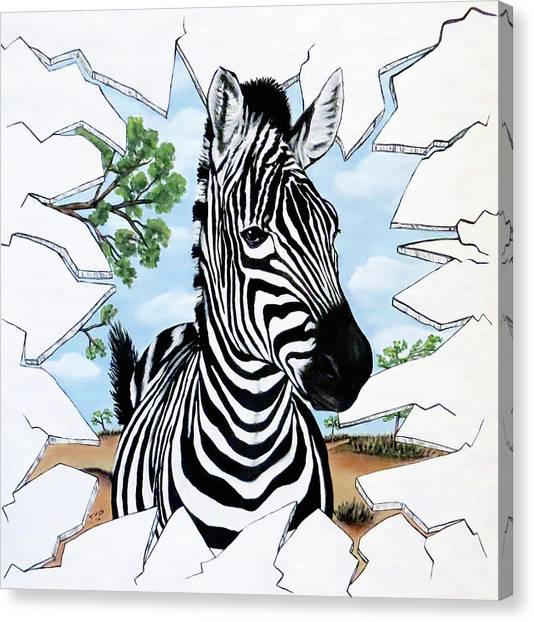Zany Zebra Canvas Print