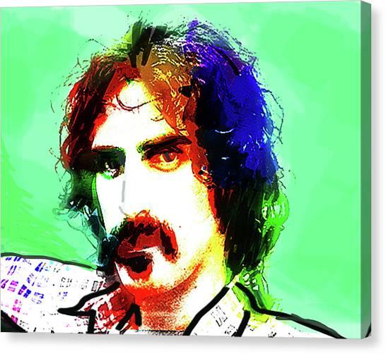 Frank Zappa Canvas Print - Zappa Portrait  by Enki Art