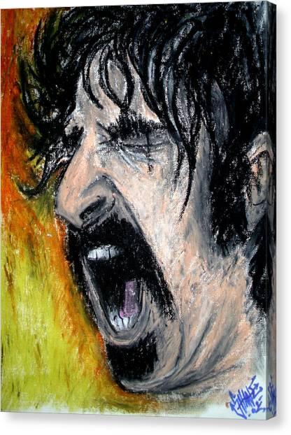Frank Zappa Canvas Print - Zappa by Sam Hane