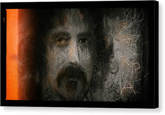 Frank Zappa Canvas Print - Zappa-the Deathless Horsie by Michael Cleere