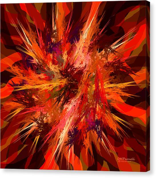 Red Camo Canvas Print - Zapped by Diane Parnell