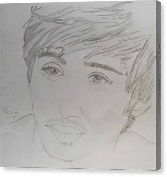 One Direction Canvas Print - Zayn Malik by Prachi Meena