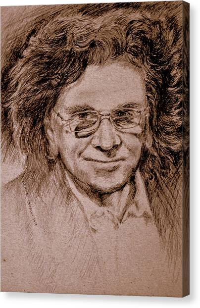 Ballpoint Pens Canvas Print - Zbyszek,musician And Vocalist by Henryk Gorecki
